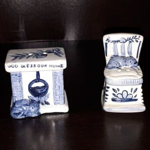 Other - God Bless Our Home Ceramic Salt and Pepper Shakers